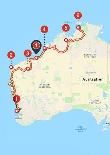Australien: Perth –Darwin Motorradtour