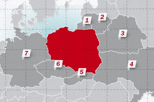 The neighboring countries of Poland