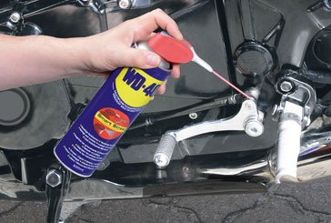 Motorcycle care - WD-40