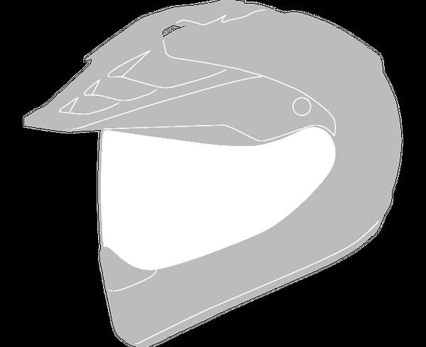 Touring enduro helmet