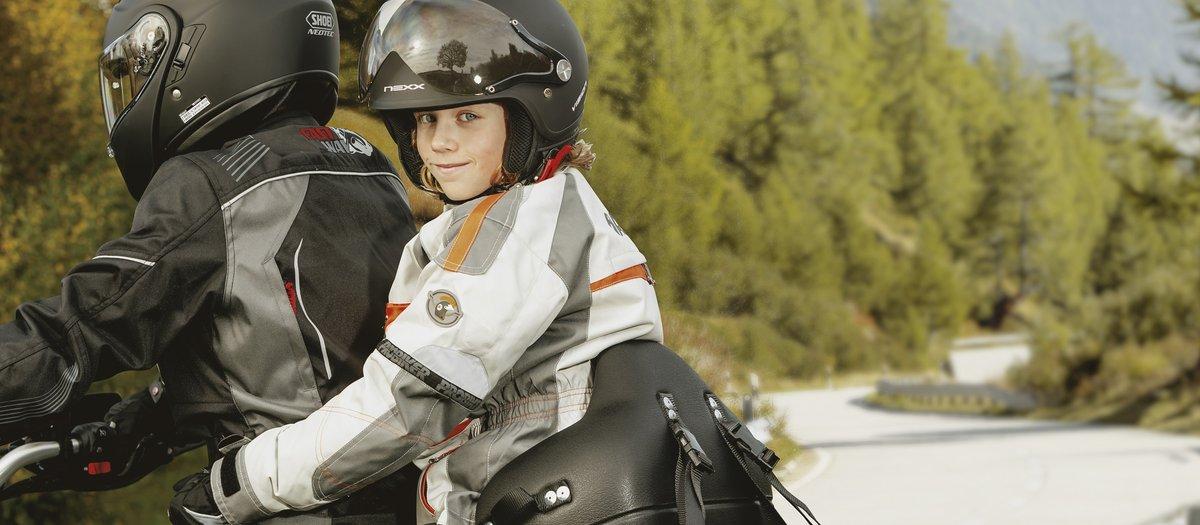 Motorradfahren mit Kindern
