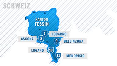 Die Städte von Tessin