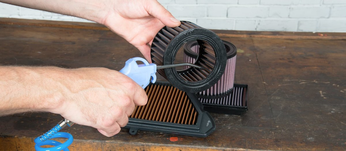 Carrying out air filter servicing