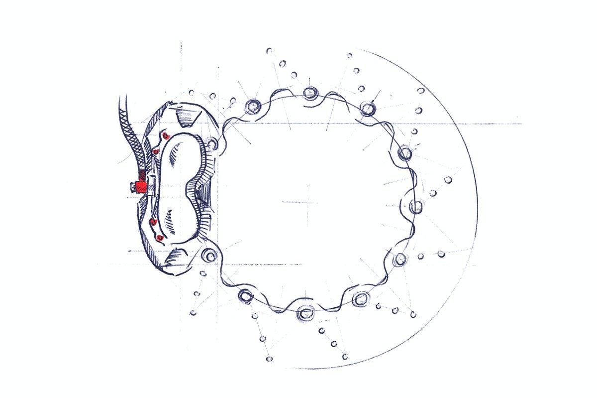 Step 9 – Skizze von Bremsscheibe