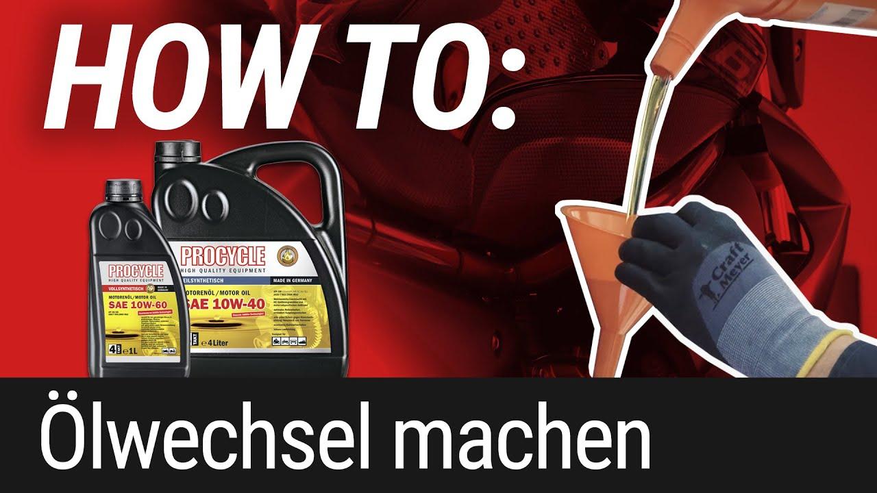 HOW TO: Ölwechsel am Motorrad