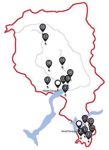 Tour de Tessin - Karte