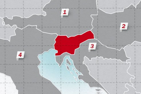 The neighboring countries of Slovenia