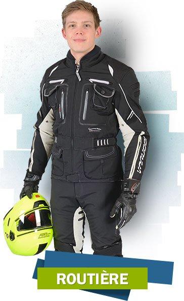 Routière motocycliste