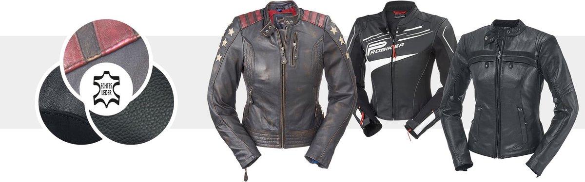 Motoradjacke für Frauen aus Leder