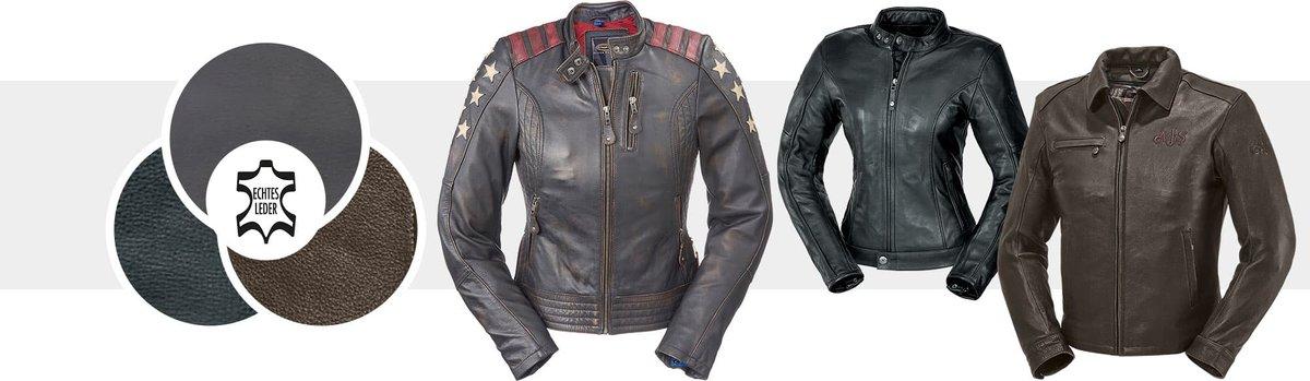 Motoradjacke aus Leder