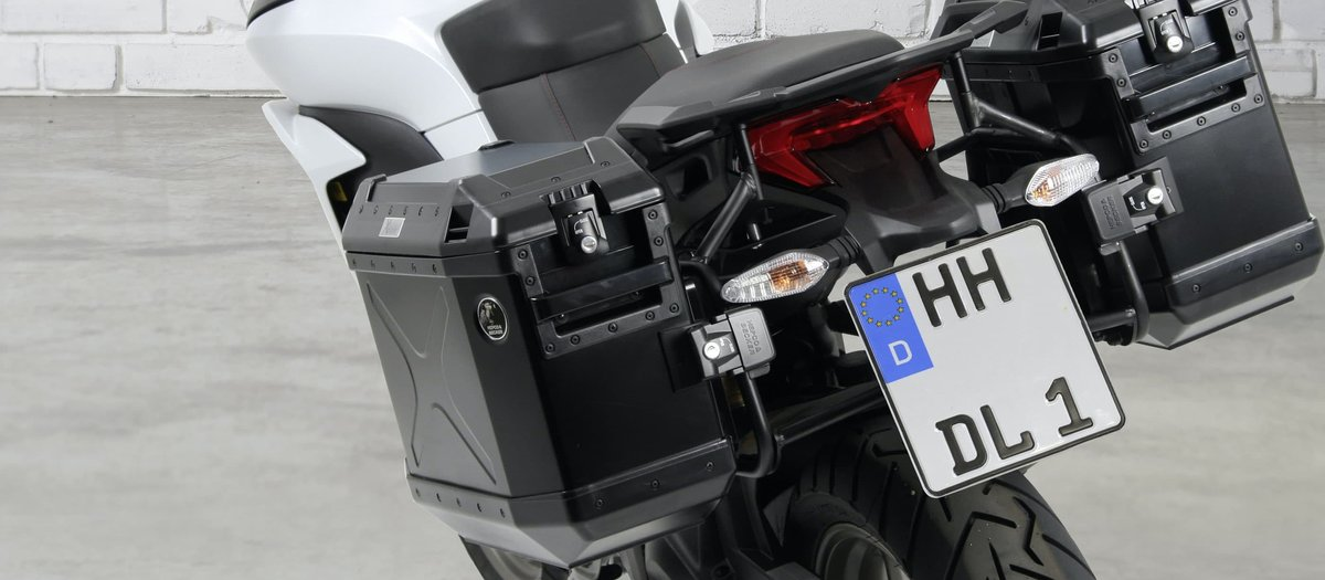 Installing a case and rack system on a motorcycle