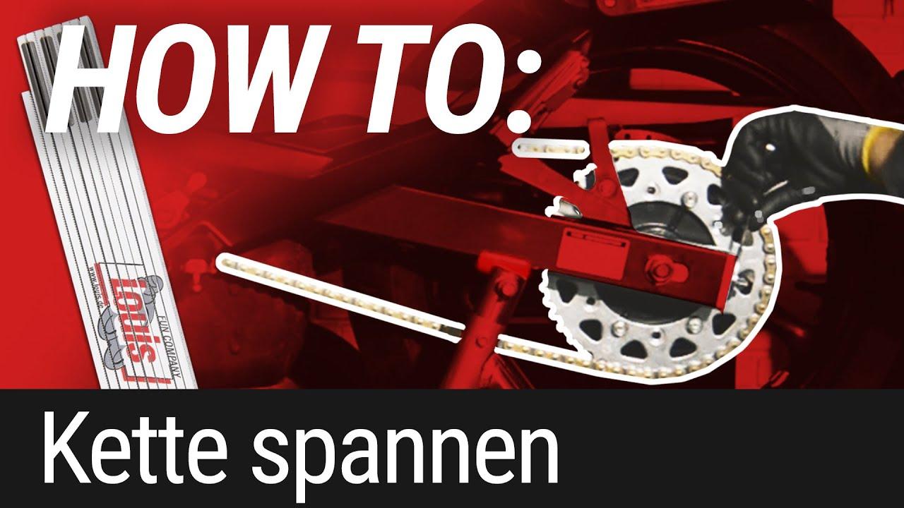 HOW TO: Motorradkette spannen