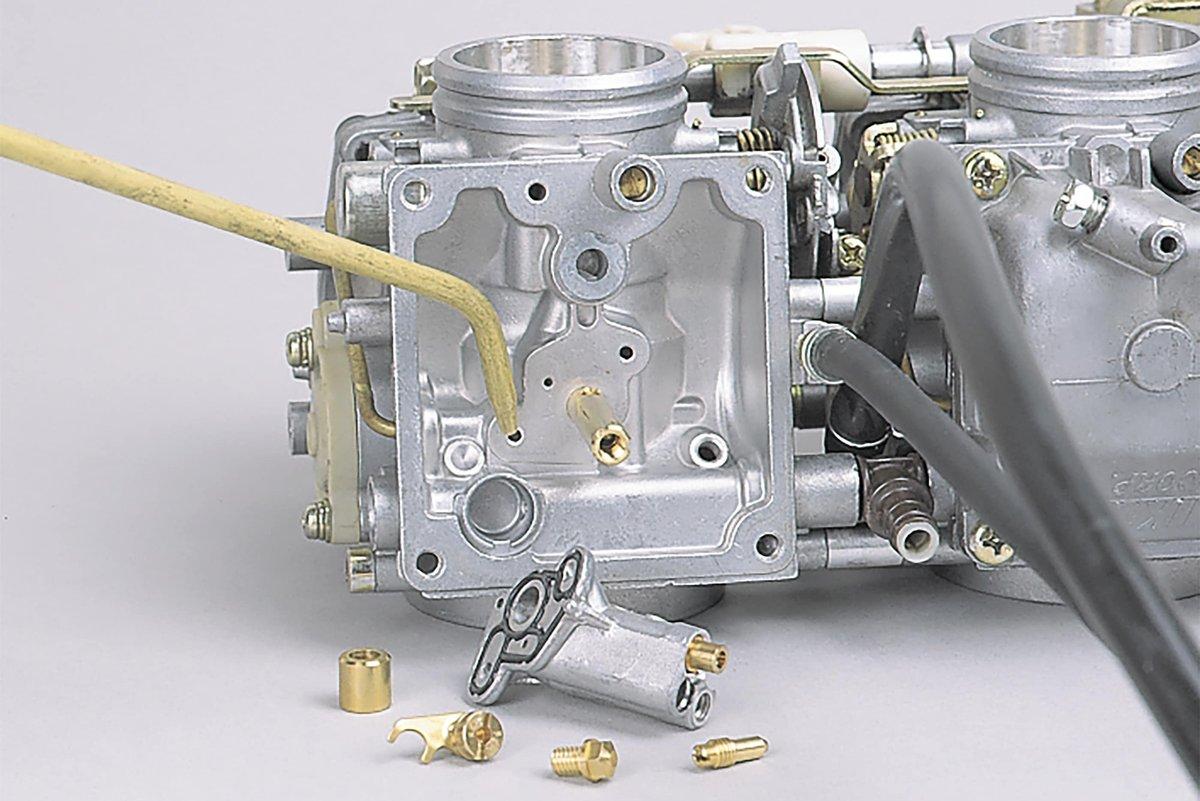 Step 22 – Remove resin from carburetor jets