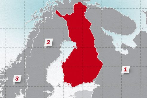 The neighboring countries of Finland