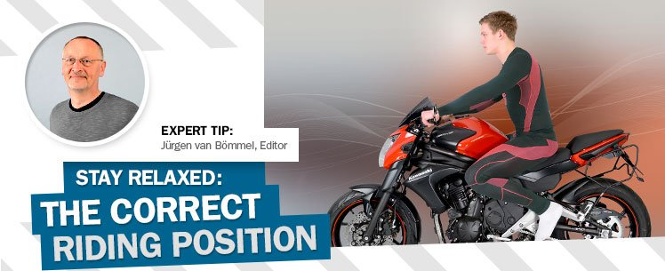 Stay relaxed: the correct riding position