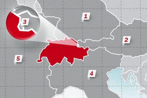 The neighboring countries of Switzerland