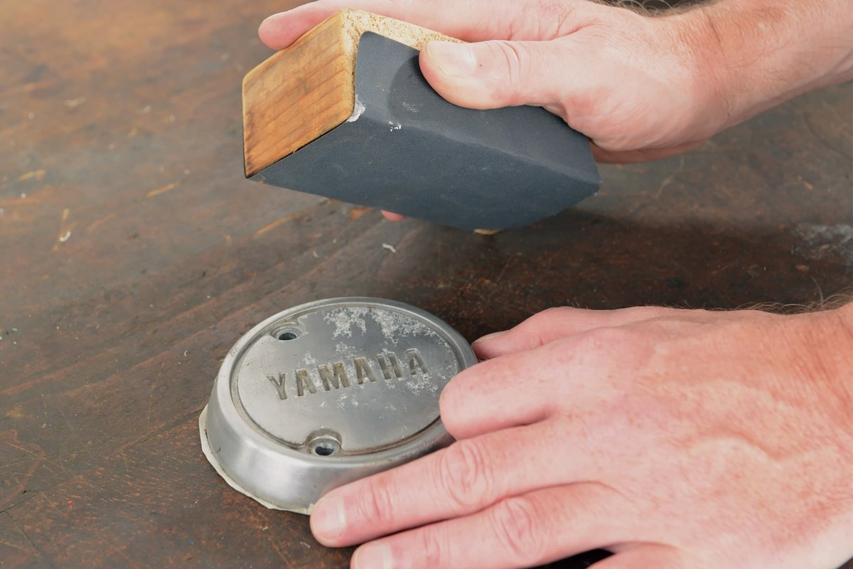 Step 2 – Sanding block and sandpaper for smoothing