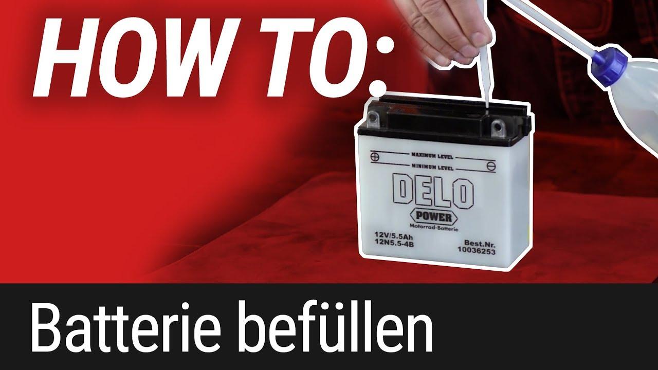 HOW TO: Motorrad Batterie nachfüllen