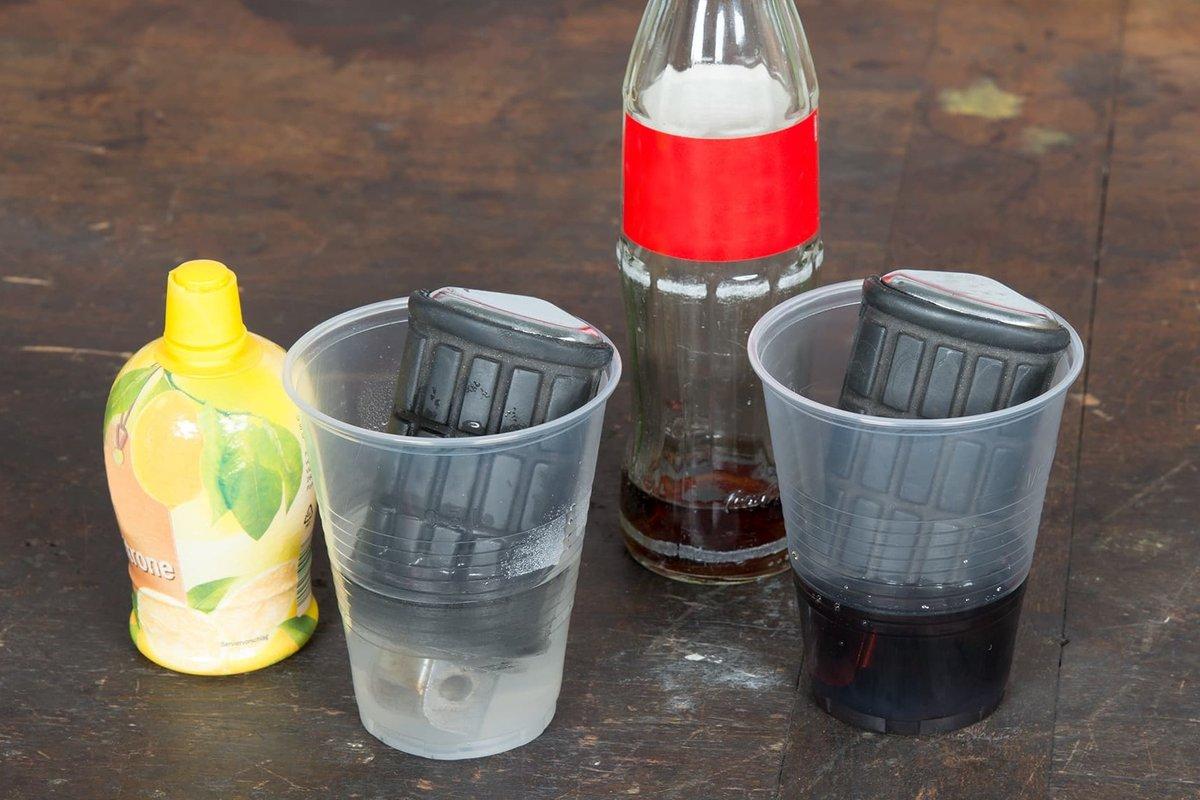 Fase3 – gli acidi leggeri aiutano a far sciogliere la ruggine