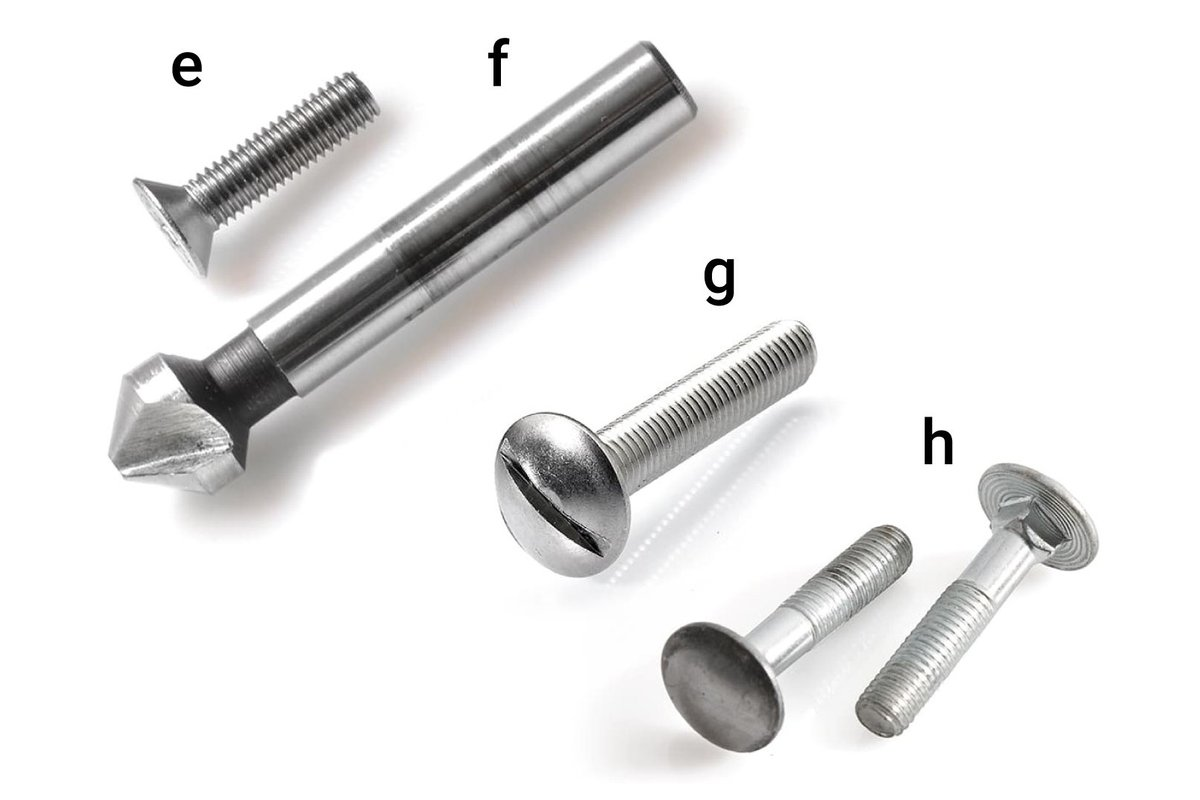 Fig. 2.2 – Overview of screws