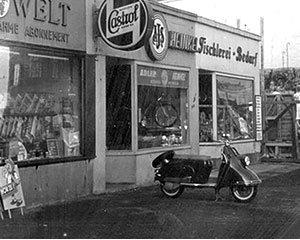 Die Geschäftsräume der Firma Louis 1955 in der Hamburger Grindelallee 53