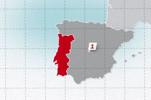 The neighboring countries of Portugal
