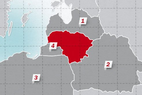 The neighboring countries of Lithuania