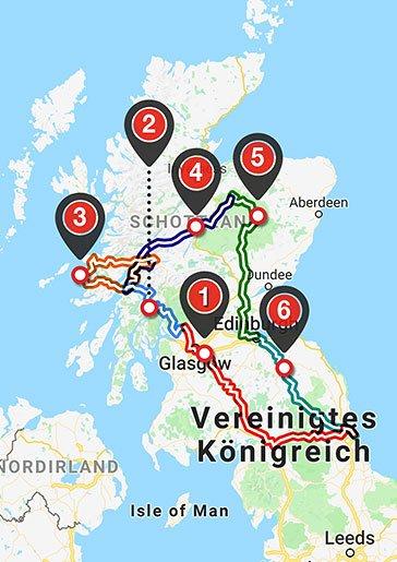 Westcoast & Highlands Karte
