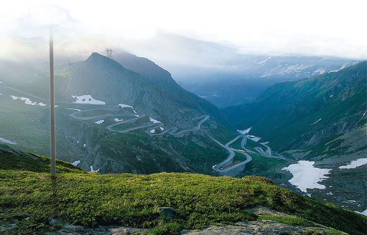 Gotthard Pass - One of the oldest and most important Alpine crossings. Recommendation for the southern approach: the old Tremola Road.