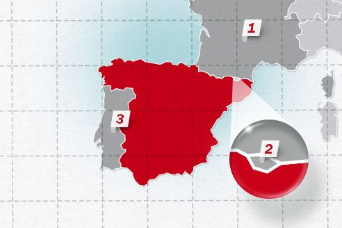 The neighboring countries of Spain