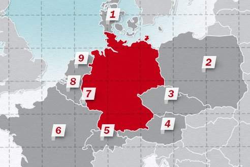The neighboring countries of Germany