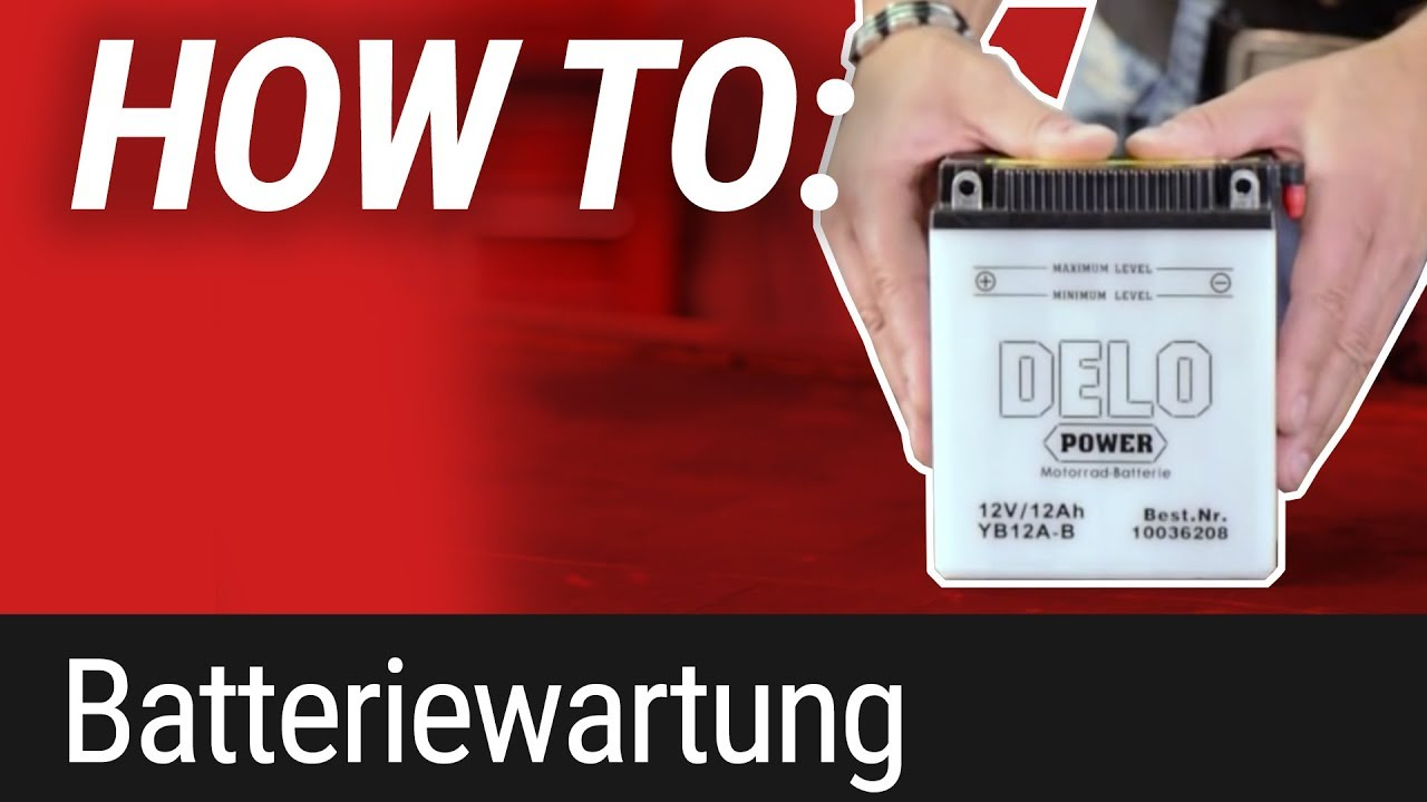 HOW TO: Motorrad-Batteriewartung