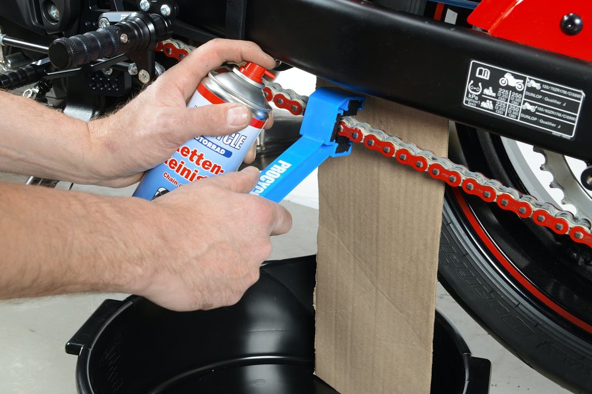 Step 11– Clean, lubricate and, if necessary, tension the drive chain