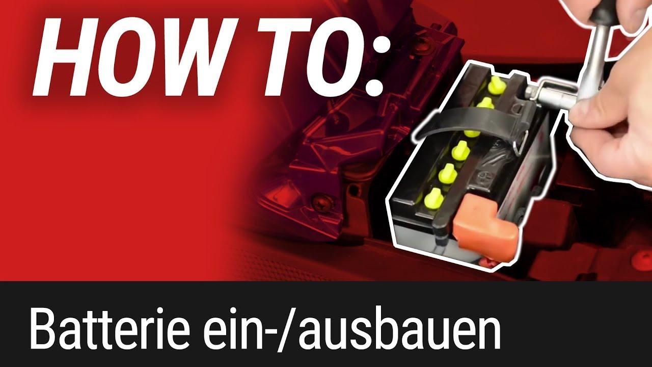 HOW TO: Motorrad Batterie ausbauen und einbauen