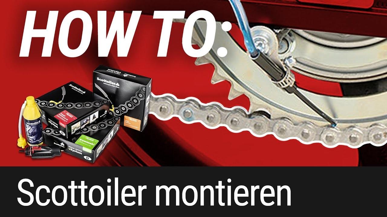 HOW TO: Scottoiler Kettenschmiersystem am Motorrad montieren