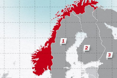 The neighboring countries of Norway