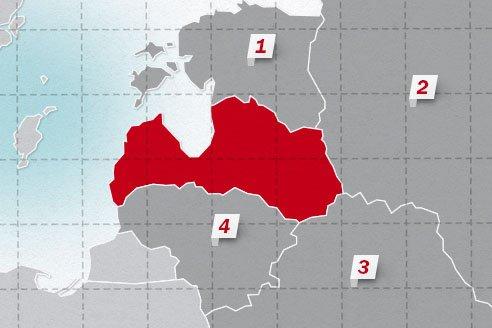 The neighboring countries of Latvia