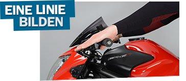 Unterarm Hand und Finger bilden eine Linie