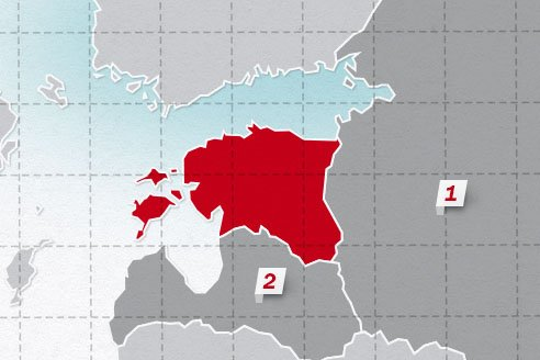The neighboring countries of Estonia